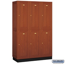 Solid Oak Executive Lockers
