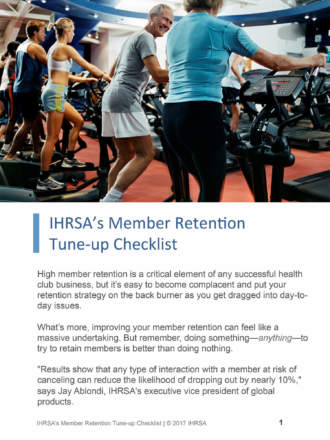 IHRSA's Member Retention Tune-up Check...