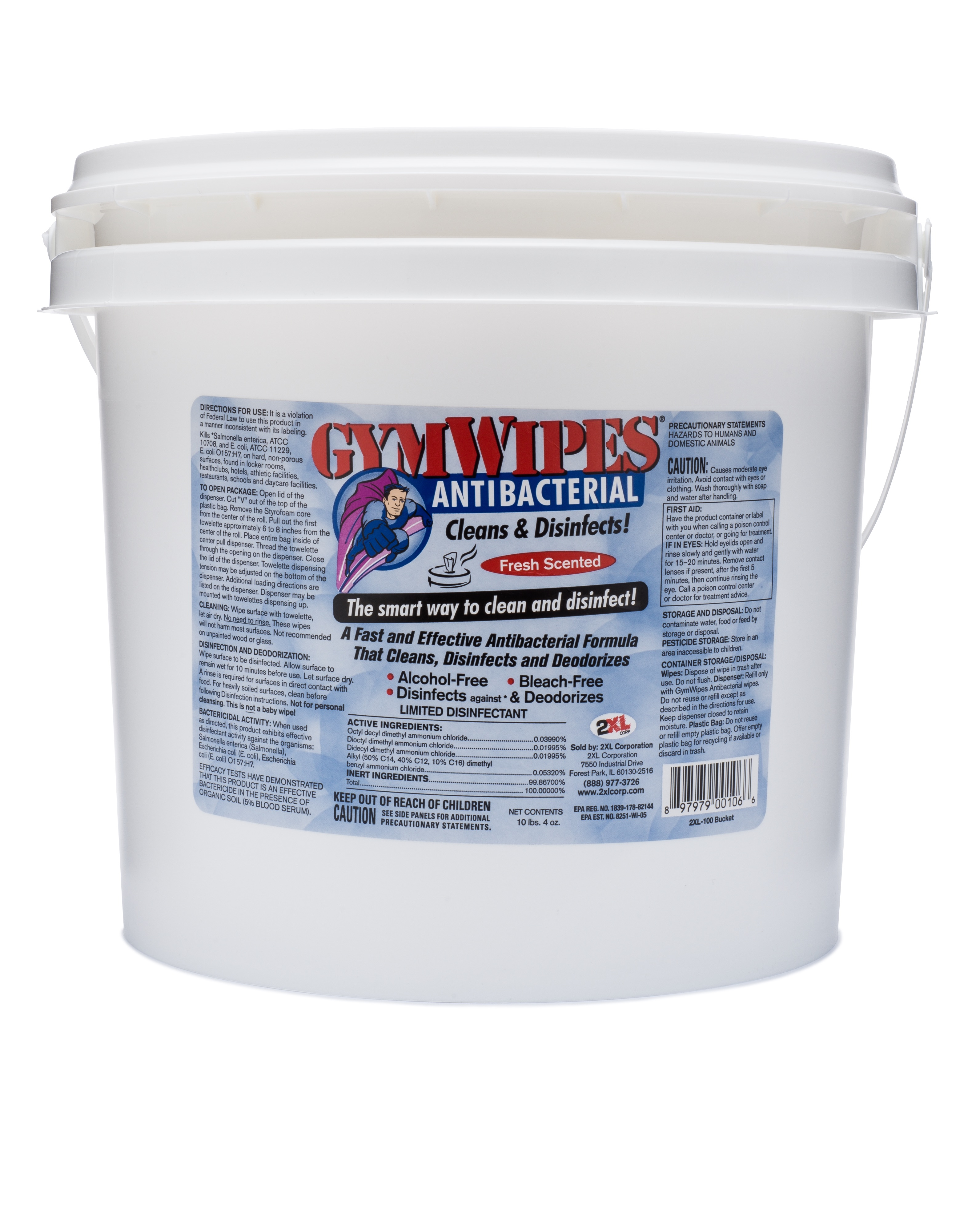GYMWIPES ANTIBACTERIAL