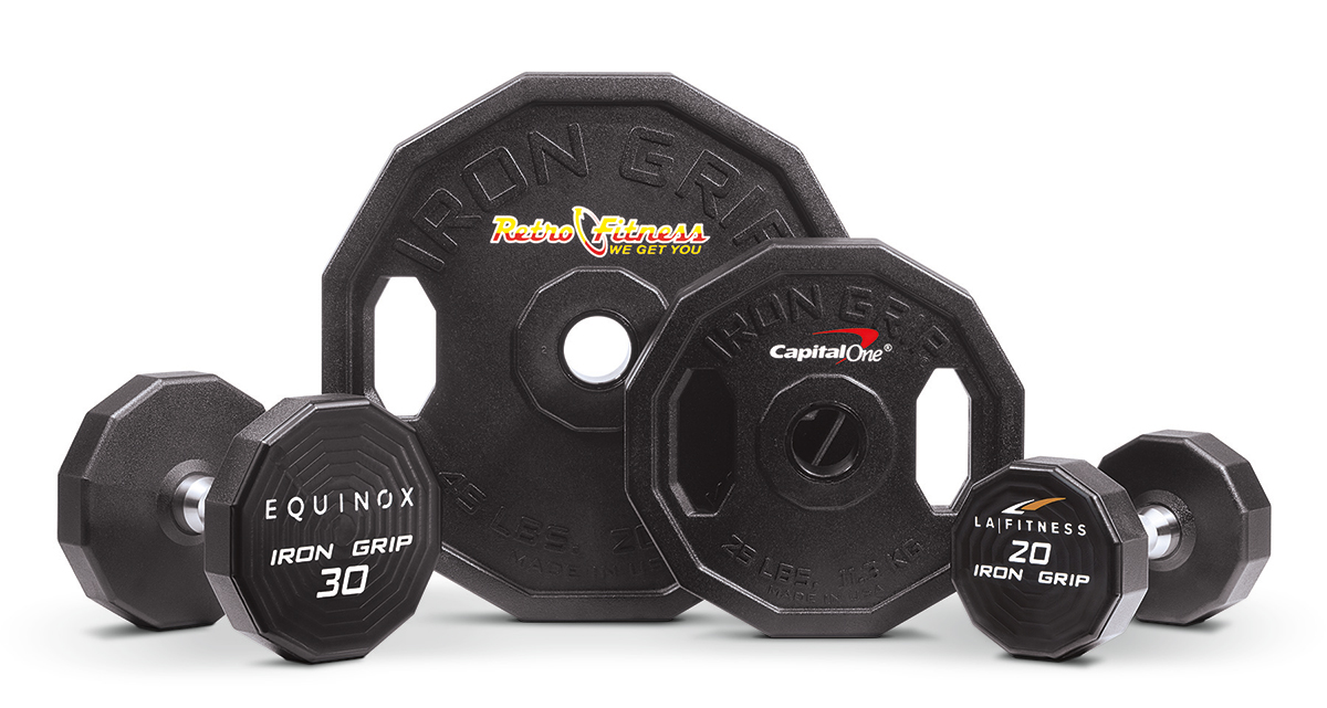 Custom Engraved Dumbbells and Barbells