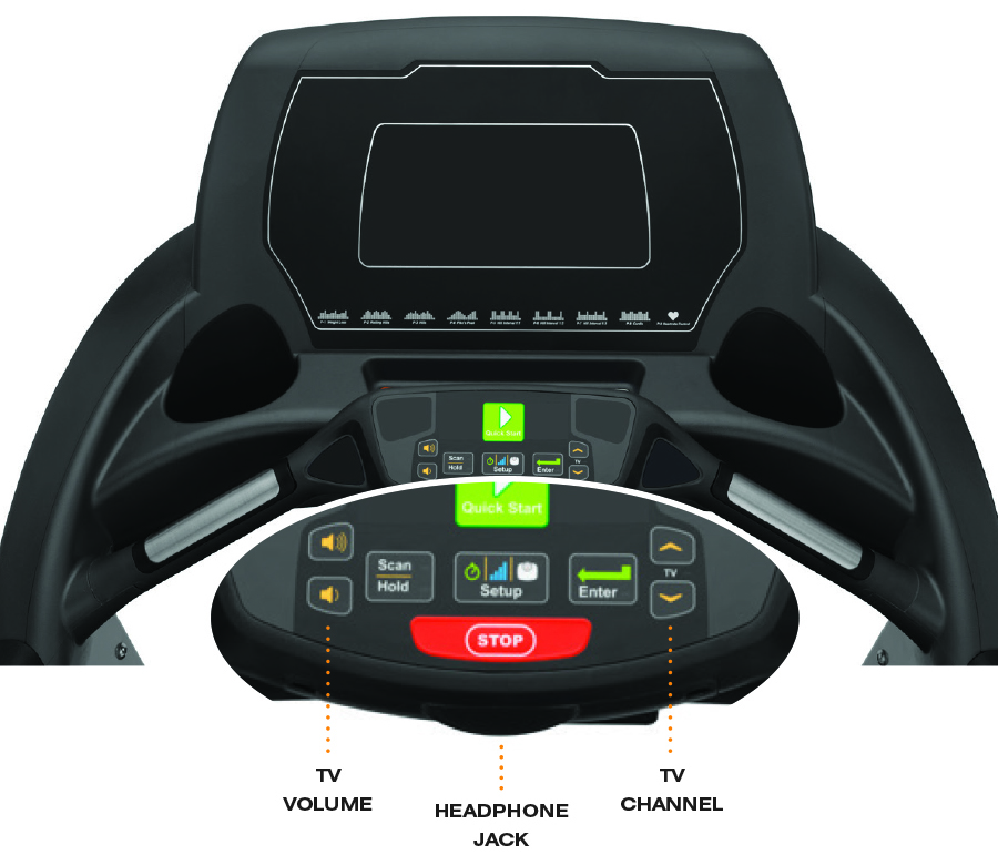 Cardio Machine Built-In TV Audio Receive...